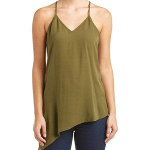 Haute Hippie Olive Green Asymmetrical Cami Top M
